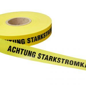 Trassenband - Achtung Starkstromkabel